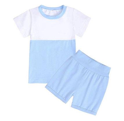 Kids Tales Light Blue Shorts Set