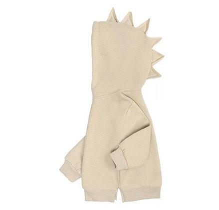Biege Dinosaur Hoodie
