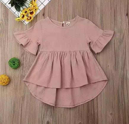 Pink Frill Arm Dress