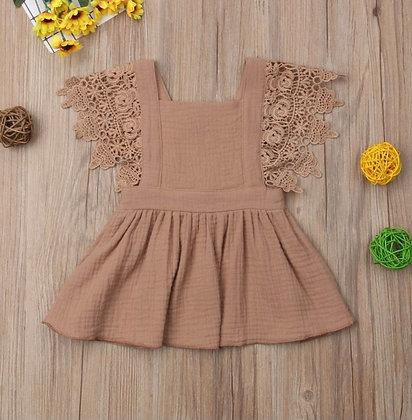 Dusky Pink Lace Dress