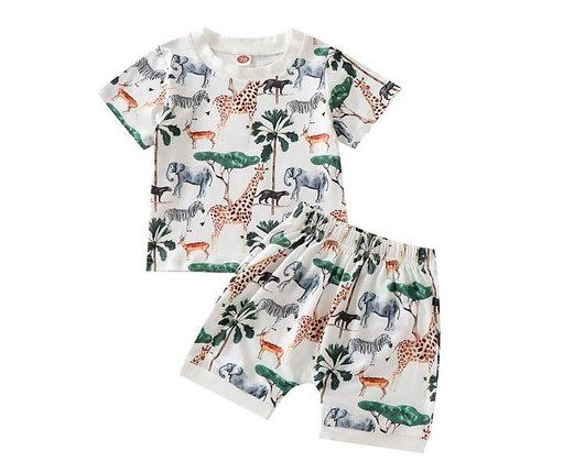Safari Shorts and T Shirt Set