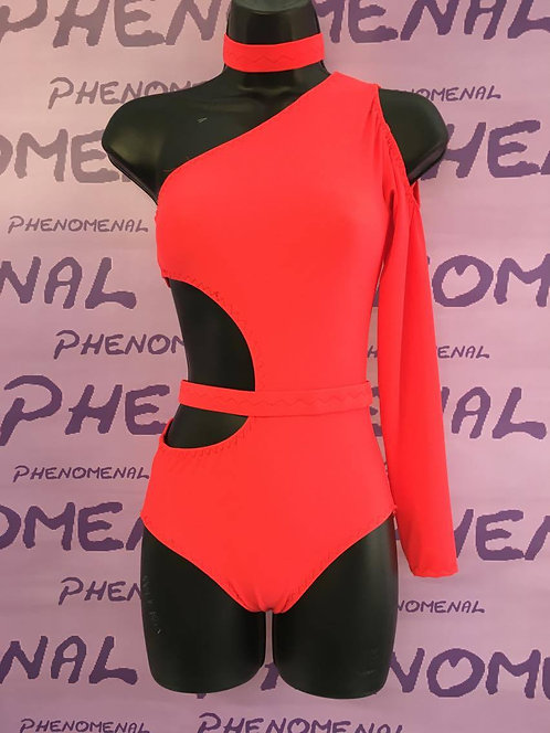 'Mia' Cut our leotard with belt choker