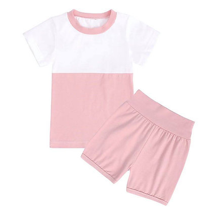 Kids Tales Pink Short Set