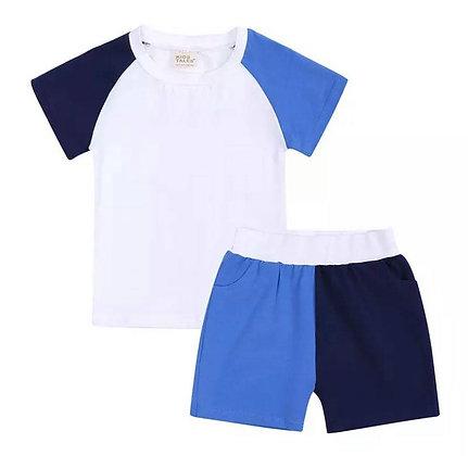 Kids Tales Blue Shorts Set
