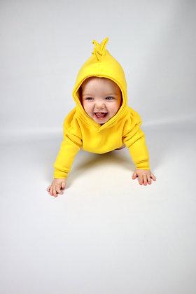 Yellow Dinosaur Hoodie