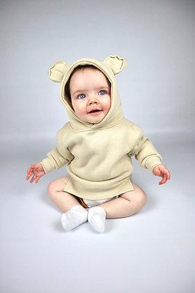 Beige Bear Hoodie
