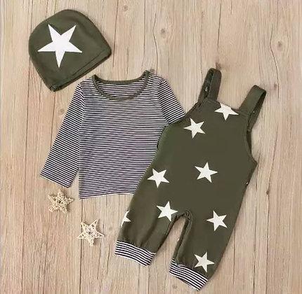 khaki Stars and Strips Set