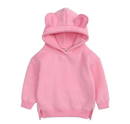 Bright Pink Bear Hoodie