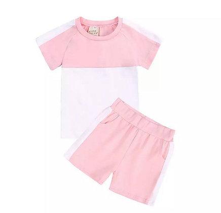 Baby Pink 2 Piece Short Set