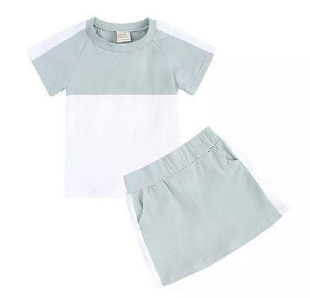 Mint Skirt Set