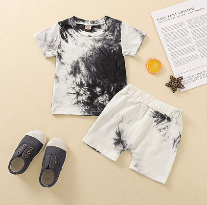 White& Black Tie Dye Set