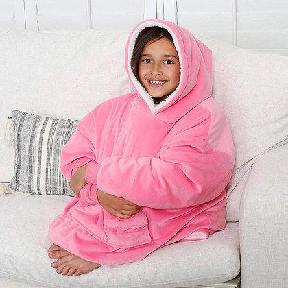 Kids Pink Oversized Hoodie