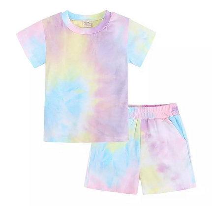 Pastel Tie Dye Short Set