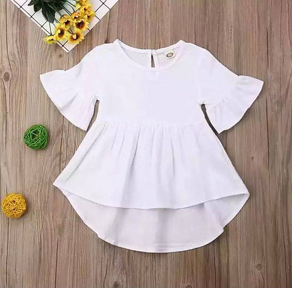 White Frill Arm Dress