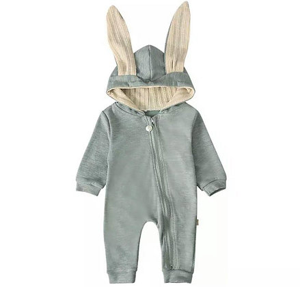 Grey Bunny Onesie