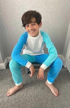 Kids Tales Blue & Turquiose Contrast Lounge Set