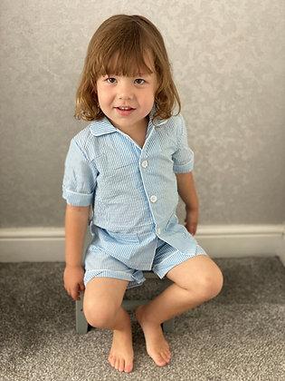 Blue Striped Summer Pyjama
