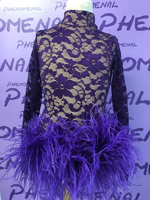 'Frilly' full lace leotard