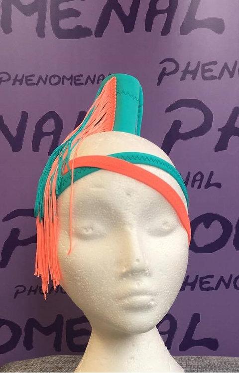 Two Strap Headband with Ponycone