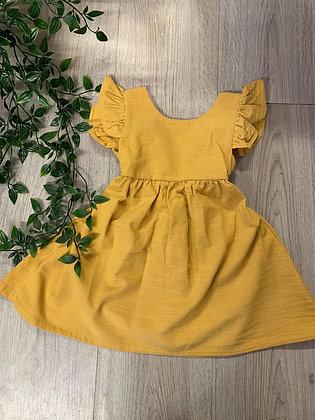 Mustard Tie Back Dress