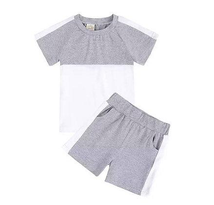 Grey 2 Piece Short Set