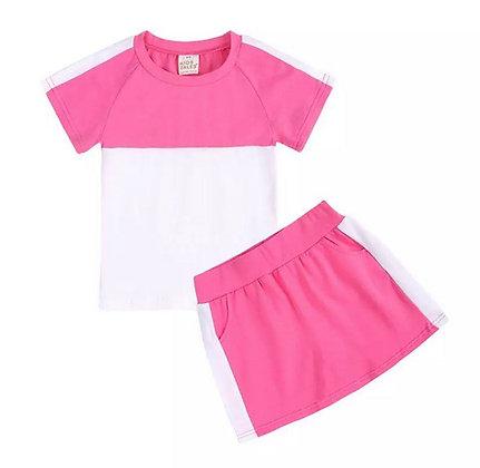 Bright Pink Skirt Set