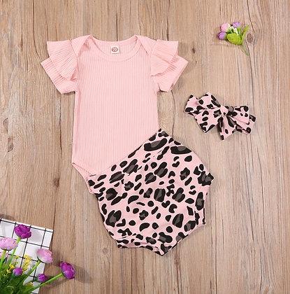 Pink Leopard print 3 Piece Set