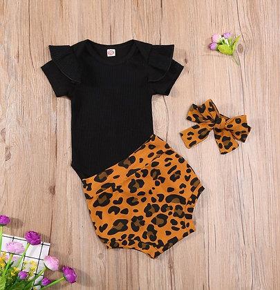 Tan Leopard print 3 Piece Set
