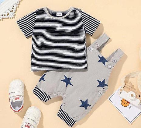 Grey Shorts Stars and Strips Set