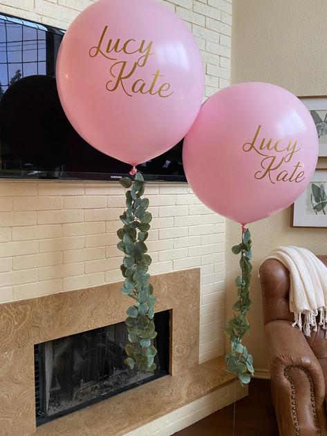 Latex balloons + custom tail