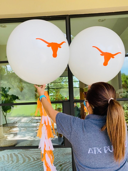 Personalized latex balloons with tassels