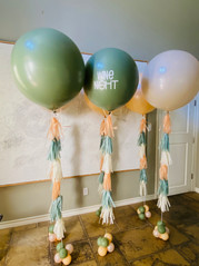 24-inch latex balloons with tassels