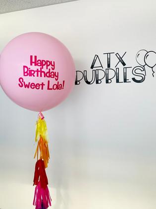 Big latex balloon