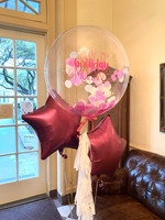 Personalized bubble balloon with tassels