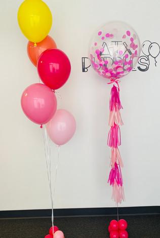 Bubble balloon with tassels + Bundle