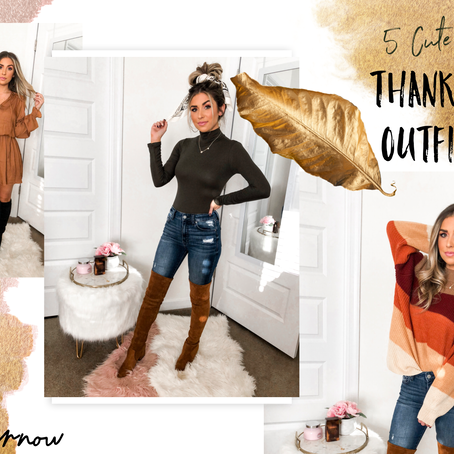 5 Cute + Easy Thanksgiving Outfit Ideas!