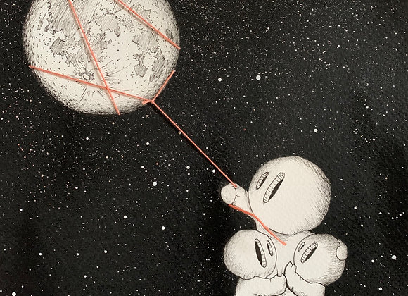 Moon pull triple lightbox
