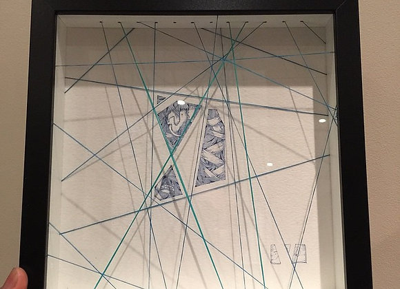 Geometric String Blue/green