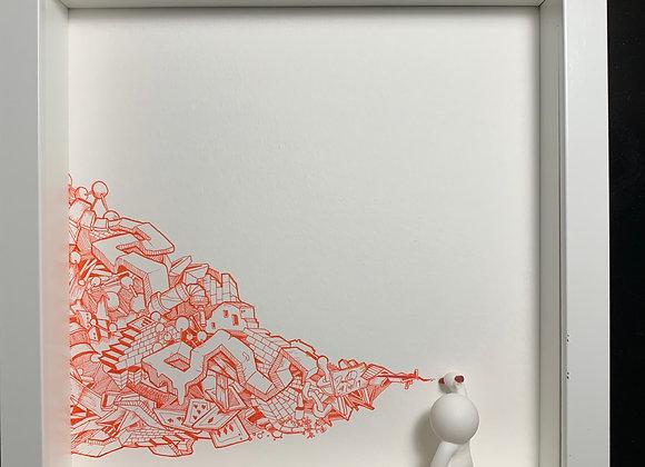 Graff wall Red