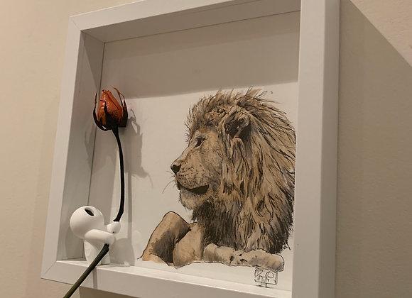 Lion Sits