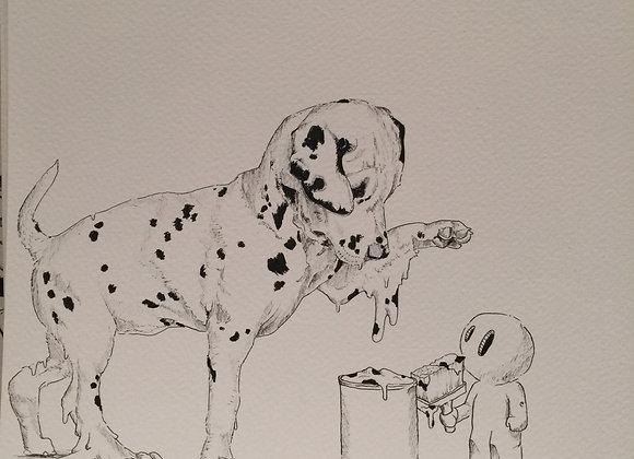 Dalmatian dripping