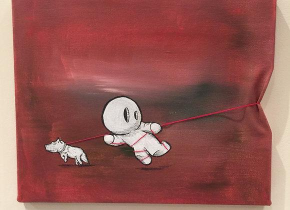 Dog walk and run