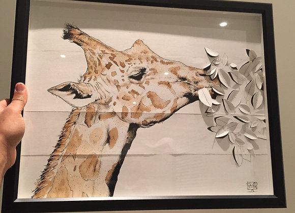 Giraffe 3D Leaf coffee