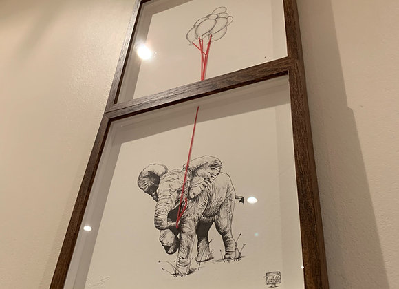 Double Elephant and Balloons