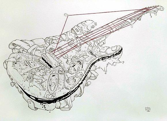 Guitar Strat detailed string