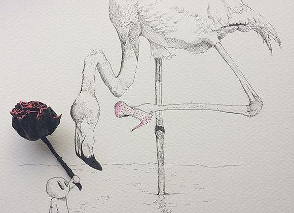 Flamingo rose