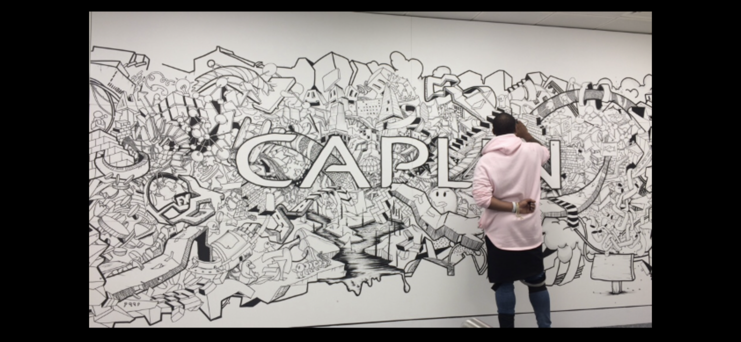 Caplin Logo Mural and Timeline