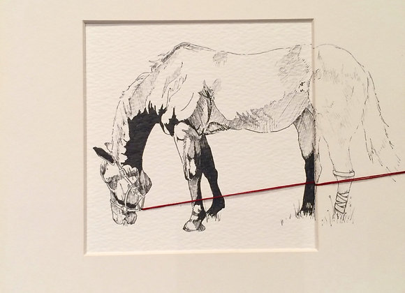 Horse dog pull Double