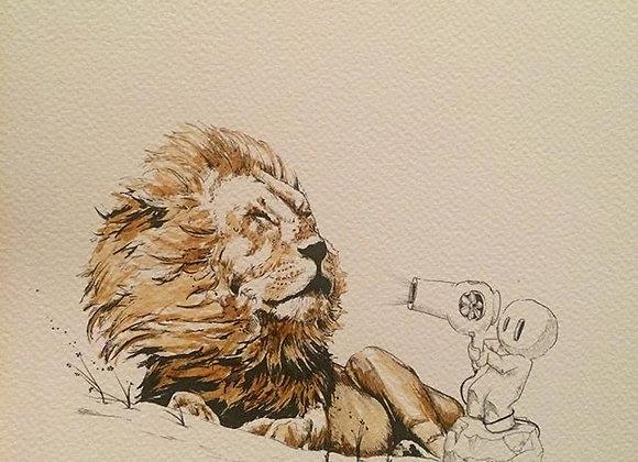 Coffee Lion blows