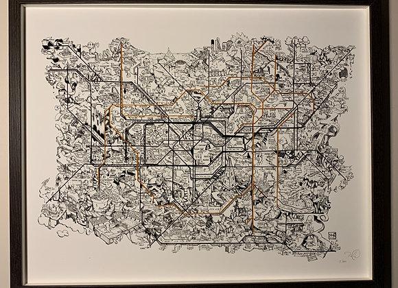 48.London Illustrated Map Print